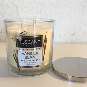 Tuscany Candle Vanilla Bean 14oz Soy Blend Candle
